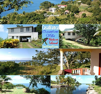 Casablanca, private oceanfront villa, Dominica's popular mid west coast