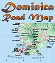 Road map of Dominica