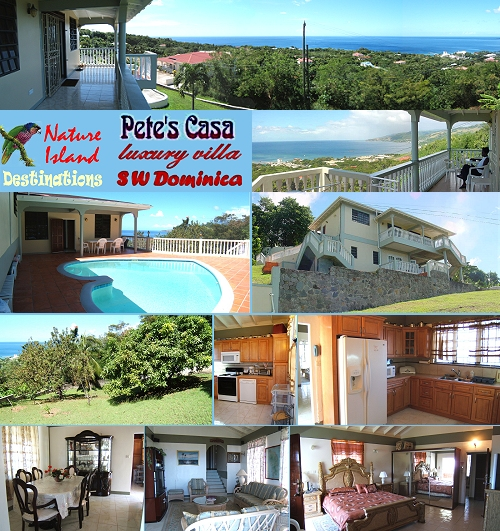 Pete's Casa, luxury villa, Morne Daniel, SW
