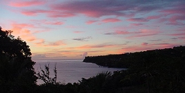 West coast sunset, Macoucherie, Dominica