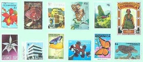 stamps of Dominica